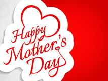 Beautiful vector card design for Mother's day. Stock Photo
