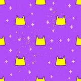 Beautiful vector card. Pattern with Cat cute. Frame of animal made in vector. Use for children clothes, pajamasrr Royalty Free Stock Photo
