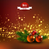 Beautiful Vector Christmas background Stock Photography
