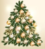 Beautiful vector Christmas tree for design Royalty Free Stock Photo