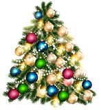 Beautiful vector Christmas tree for design Stock Photo
