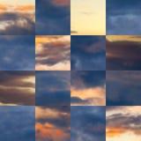 Beautiful vector cloudscape Stock Image