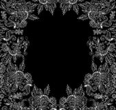 Beautiful vector decorative frame with lacy curling floral ornaments Stock Images