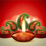 Beautiful vector diwali diya. Illustration royalty free illustration