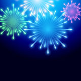 Beautiful vector fireworks Royalty Free Stock Image