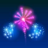 Beautiful Vector Fireworks Stock Photo