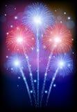 Beautiful Vector Fireworks Stock Photos