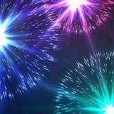 Beautiful Vector Fireworks Royalty Free Stock Images