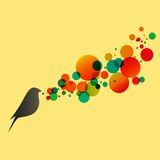 Beautiful vector flat silhouette of the bird Royalty Free Stock Photos