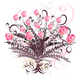 Beautiful vector floral design stock photo