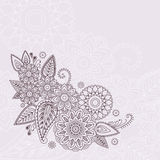 Beautiful vector floral elements in indian mehndi style. Unique hand drawn paisleys, mehndi floral abstract vector illustration Vector Illustration