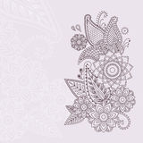Beautiful vector floral elements in indian mehndi style. Unique hand drawn paisleys, mehndi floral abstract vector illustration Stock Illustration