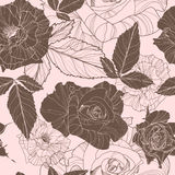 Beautiful vector floral seamless pattern Stock Photography