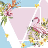 Beautiful vector floral tropical summer background. EPS 10 Stock Images