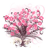 Beautiful vector flower design. A beautiful vector flower design Royalty Free Stock Photo