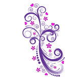 Beautiful vector flower design Stock Photos