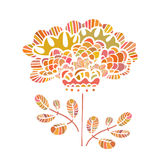 Beautiful vector flower drawn by hand. Perfect floral card templ Royalty Free Stock Photos