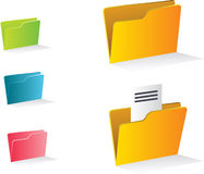 Beautiful vector folders Royalty Free Stock Image