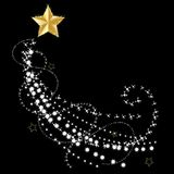Beautiful vector of gold star glowing with light effect stars. Light effect stars glitter sparkles ray isolated on black background Royalty Free Stock Image