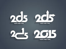 Beautiful vector happy new year 2015 text designs. Set of beautiful vector happy new year 2015 text designs Stock Image