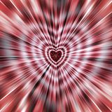 Beautiful vector. From the heart in the middle diverge the stripes to the edges. Image for the Mothers Day, Valentines Day. royalty free stock photos