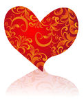 Beautiful vector hearts with floral ornament stock photography