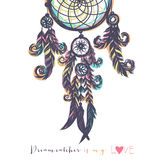 Beautiful vector illustration with dream catchers Stock Photos