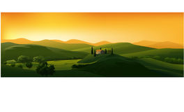 Beautiful vector landscape Royalty Free Stock Photos