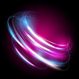Beautiful vector light effect. Colored lights with flash. Vector background with the effect of neon and glow. Flying design elements Stock Image