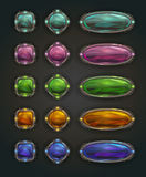Beautiful vector magic shiny stone buttons Royalty Free Stock Photo