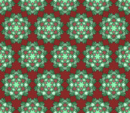 Beautiful vector Print Seamless Pattern. Mandala Flowers set with red background. Royalty Free Stock Images