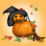 Beautiful vector pumpkin on Halloween Stock Photo