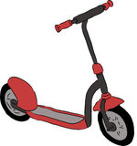 Beautiful vector scooter Royalty Free Stock Image