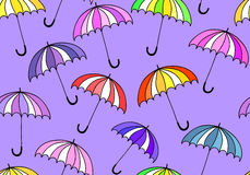 Beautiful vector seamless pattern with colorful umbrellas Stock Image