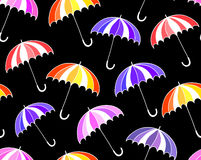 Beautiful vector seamless pattern with colorful umbrellas Royalty Free Stock Photo