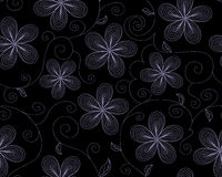 Beautiful vector seamless pattern with flowers Royalty Free Stock Photos