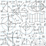 Beautiful vector seamless pattern with mathematica Royalty Free Stock Photo