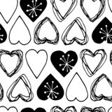 Seamless scandinavian pattern for Valentine day royalty free stock photos