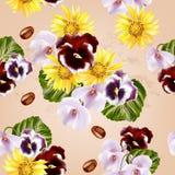 Beautiful vector seamless pattern Stock Photos