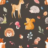 Watercolor baby vector pattern Royalty Free Stock Images