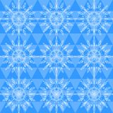 Beautiful vector snowflakes seamless pattern Stock Photos