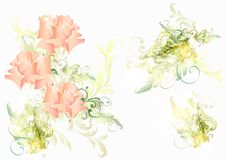 Beautiful vector soft background with roses Stock Photography