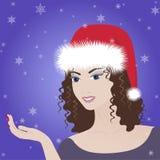 Beautiful vector winter girl Royalty Free Stock Photos