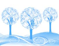 Beautiful vector winter tree design Royalty Free Stock Photography