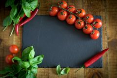Beautiful vegetables on a wooden table. royalty free stock photos