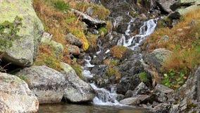 Beautiful veil cascading waterfall stock footage