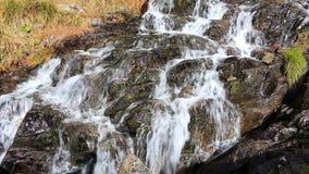 Beautiful veil cascading waterfall stock video