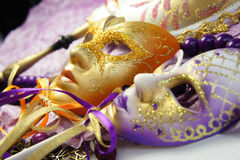Beautiful Venetian carnival masks Royalty Free Stock Photography