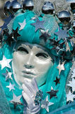 Beautiful Venetian Mask at Carnival of Venice, Royalty Free Stock Image