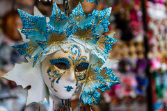 Venice mask. A beautiful Venetian mask on display for sale stock photo